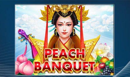 แนะนำ Peach Banquet slotxo ธีมจีนสุดปัง ตัวใหม่ล่าสุด!